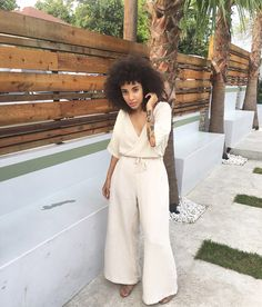 "blackfashion: ""Nikisha Brunson wearing Esby Apparel jumpsuit. Follow her…"
