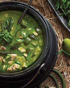 """""""Breast of chicken and chile's fury -- with fresh green veg make good Thai curry,"""" intoned the witch, adding coconut milk and lemongrass."""
