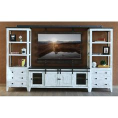 distressed white 2 piece ornate entertainment center prisma home entertainment pinterest white tv stands white tv and tv stands - Distressed White Tv Stands