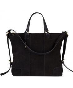 Women Real Split Suede Leather Shoulder Tote Bag Female Large Leisure Handbag - Black - CQ187KEYL3G  #Bags #Handbags #Totebags #gifts #Style
