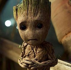 Sad baby groot. Too adorable for words.