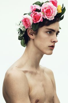 100artistsbook:  Flower Laurel on Youth More male photography at www.VitruvianLens.com