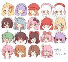Drawing Tips Chibi Drawing Poses, Manga Drawing, Drawing Tips, Hair Styles Drawing, Anime Hair Drawing, How To Draw Anime Hair, Drawing Techniques, Anime Chibi, Kawaii Chibi
