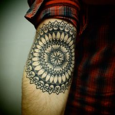 Arm Mandala Tat Tattoo Idea