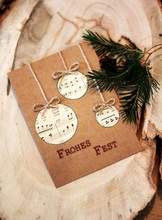 Geschenke und Dekoration - Papier Atelier - Hints for Women Diy Christmas Cards, Xmas Cards, Diy Cards, Christmas Crafts, Christmas Ornaments, Diy Crafts To Do, Paper Crafts, Birthday Decorations, Christmas Decorations