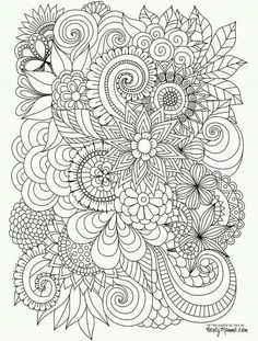 Abstract Coloring PagesPrintable Adult