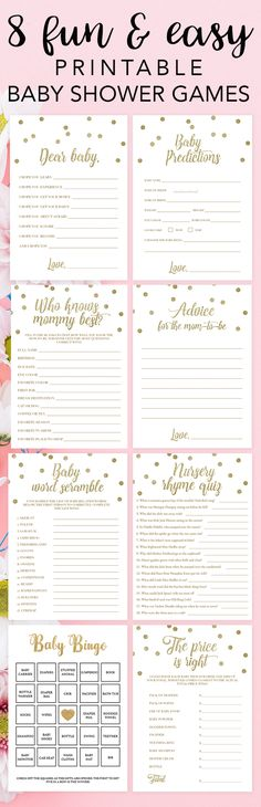 Baby Shower Games For Large Groups Babyshower Free Printable 62 Trendy Ideas Baby Shower Centerpieces, Baby Shower Favors, Baby Shower Parties, Baby Shower Decorations, Baby Shower Invitations, Baby Shower Gifts, Shower Party, Invites, Gold Baby Showers
