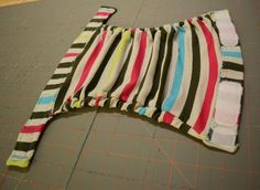 Tutorial: How to Sew a Faux gDiaper from an Upcycled Shirt - cat eyed KP