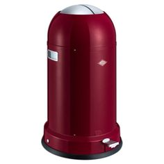 Wesco Kickmaster Classic Line Bin – ruby red kitchen trash can