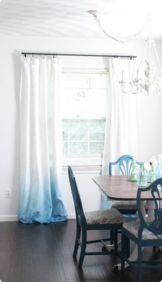 how to make blue ombre curtains