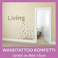 Wandtattoo Konfetti 25 STK. Ø 3cm Aufkleber Punkte Kreise Dots Wandgestaltung | eBay