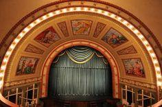 Calmut Theatre - beautiful proscenium arch built in 1900.