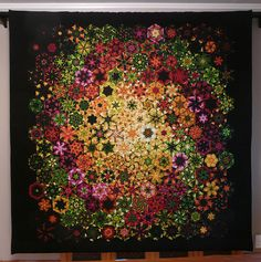 """Stack & Whack quilt """"25"""" by Bruce Seeds. Amazing to think that this entire quilt came from just one fabric!"""