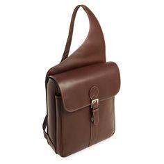 9792d0becad9 Siamod Sabotino Leather Sling Messenger Bag - Cognac - 25414 Vertical Messenger  Bag