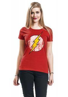 Maglietta donna a maniche corte di The Flash.