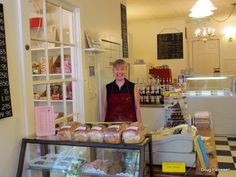 Sweet Shop, Angelica, NY. Angelica's famous salt-rising bread is prominently featured.