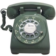 Vintage Western Electric Green 500 Rotary Phone