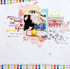 #papercraft #scrapbook #layout. be happy by lenochka at @studio_calico