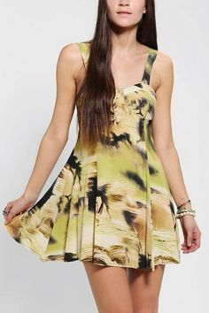 Evil Twin Bad Scene Silky Bustier Dress #urbanoutfitters