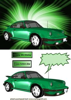 GREEN SPORTS CAR on Craftsuprint - Add To Basket!