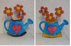 Petit arrosoir fleuri pour la fête des grands-mères