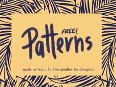 Patterns FOR FREE!