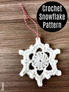 These Christmas crochet snowflake ornaments are perfect for making in large quantities to give as a small gifts or to hang on your own tree.