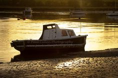 https://flic.kr/p/CGti4v | Small Boat. | Small boat moored at low tide on the estuary of the river Aln at Alnmouth, Northumberland at sunset.