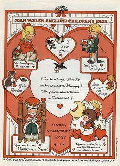 Miss Missy Paper Dolls: More Valentines Joan Walsh Anglund Valentine Theme, Vintage Valentine Cards, Little Valentine, Valentines For Kids, Valentine Crafts, Vintage Cards, Happy Valentines Day, Valentine Ideas, Joan Walsh