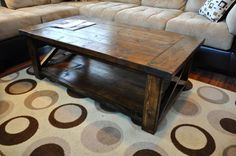 Farmhouse Style Rustic X Coffee Table | Do It Yourself Home Projects from Ana White