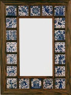 Mirror Mosaic, Mirror Tiles, Diy Mirror, Mirrors, San Antonio, Wood Picture Frames, Frames On Wall, Tile Crafts, Mirror Painting