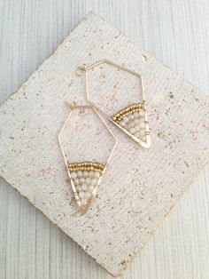 A personal favorite from my Etsy shop https://www.etsy.com/listing/473672233/beads-earringgeo-beads-earringtrapezoid