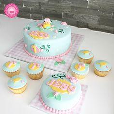 Vogel taart en cupcakes