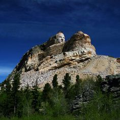 Crazy Horse Monument, South Dakota, USA. The wonderful part about this monument is that it has been entirely privately funded, and the sculptor & his family have turned down taxpayer money to build it.