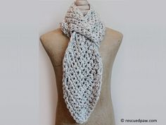 Free Crochet Pattern: Pull Through Adjustable Scarf. Sign Up To Get Free Patterns, Including In Your Emails. From http://www.shareapattern.com/crochet/pull-through-adjustable-scarf/