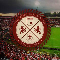 Escudo Independiente Santa Fe Santa Fe, Fes, Lion, Football, Design, Stickers, Sports, Saints, Coat Of Arms