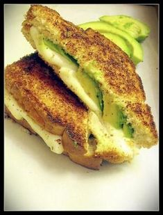 Grilled Avocado Cheese Sandwich ♥ by tammi