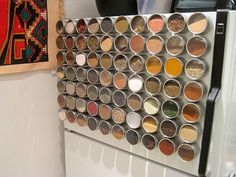 Organize Your Spices With A Magnetic Spice Rack Spice Storage, Diy Storage, Kitchen Organization, Organization Hacks, Organizing Ideas, Tool Storage, Cheap Storage, Craft Storage Ideas For Small Spaces, Small Kitchen Storage