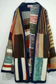Knitwear Fashion, Knit Fashion, Sweater Fashion, Boho Fashion, Custom Clothes, Diy Clothes, Mode Kimono, Knit Jacket, Long Sweaters