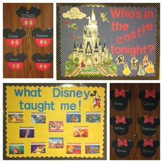 My RA boards and door tags for this semester! #RA #Doortags #Disney #NewPaltzRA