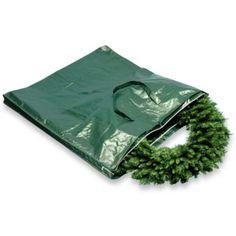 Heavy-Duty Wreath and Garland Storage Bag - BedBathandBeyond.com