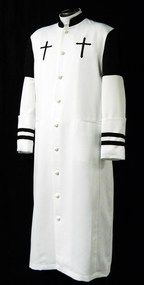 Divinity Clergy Wear offers the best in Clergy robes and other church vesments. Divinity is the leader in clergy shirts as well as church suits and double breasted suits around! Priest Outfit, Church Fashion, Church Suits, Black Men, Black White, Latest Fashion Trends, Chef Jackets, Dressing, Menswear