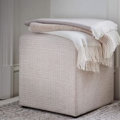 Calico, camel, driftwood and cream. just some of the tranquil neutral tones in our home interiors collection Interior Styling, Interior Design, Ottoman, Weaving Textiles, Cashmere Wool, Neutral Tones, Blanket, Driftwood, Bed