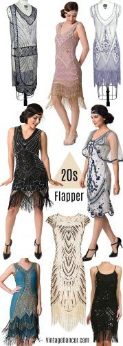 Shop 1920s flapper costumes at VintageDancer.com