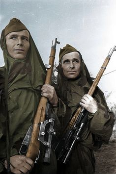 Soviet snipers at the front