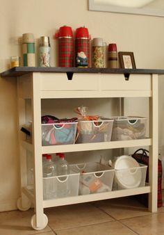 Ikea Forhoja Kitchen Cart - d'