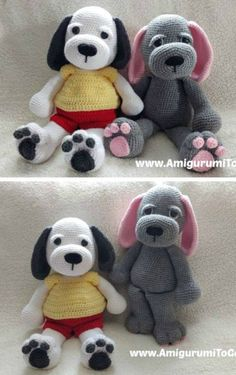 Cuddle Me Puppy Free Crochet Dog Pattern. Amigurumi dog crochet pattern with floppy ears. Crochet Amigurumi Free Patterns, Crochet Animal Patterns, Stuffed Animal Patterns, Crochet Animals, Diy Crochet, Crochet Dolls, Crochet Teddy, Amigurumi Doll, Crochet Projects