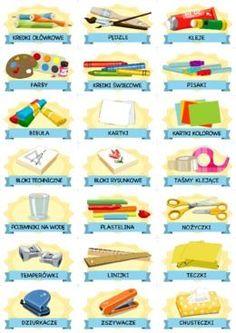 Plastyczne przybory szkolne - etykiety - Printoteka.pl Decoration, Decorating, Dekoration, Decorations, Embellishments, Deck, Decor