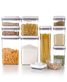 OXO Pop Containers - Kitchen Gadgets - Kitchen - Macys Bridal and Wedding Registry Home Gadgets, Kitchen Gadgets, Kitchen Appliances, Container Organization, Pantry Organization, Organizing Ideas, Organized Pantry, Pantry Ideas, Organising