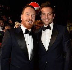 Michael Fassbender and Bradley Cooper party together at Glastonbury